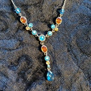 "Vintage golden Avon ""Y"" necklace."